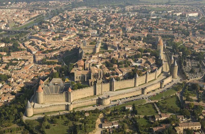 Carcassonne Sodra Frankrikes Vackraste Medeltida Stad